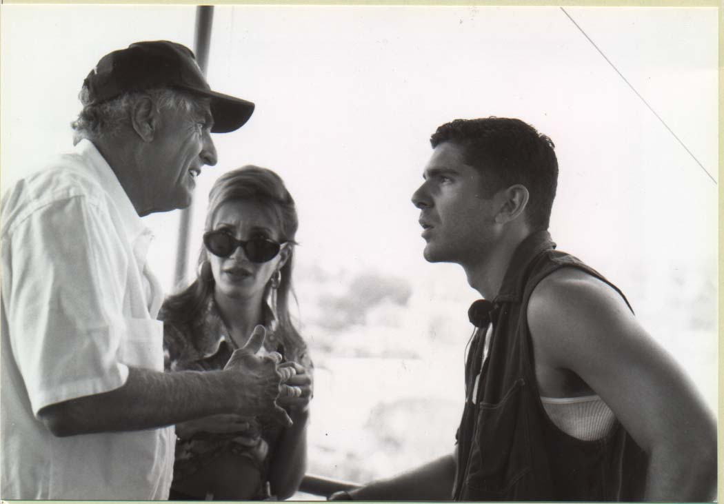 "Garry Marshall directs Felix Pire on the set of the film ""Dear God"""